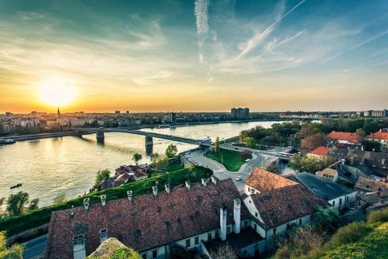 Cityscape from of Novi Sad. Horizontal image.